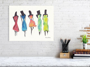 Pretty Ladies (Giclee) by Susan Erwin Prowse