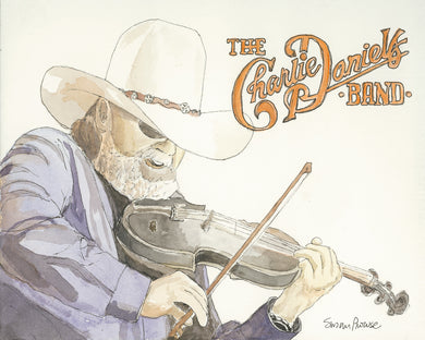 Charlie Daniels Original Watercolor by Susan Erwin Prowse