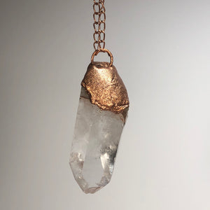 Quartz with Copper / Copper Necklace