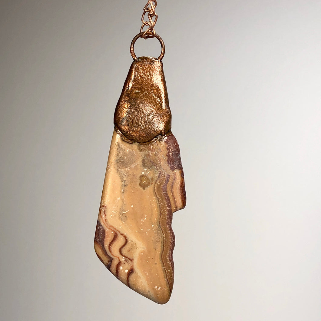 Sandstone with Copper / Copper Necklace