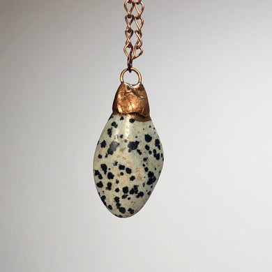 Dalmation with Copper / Copper Necklace