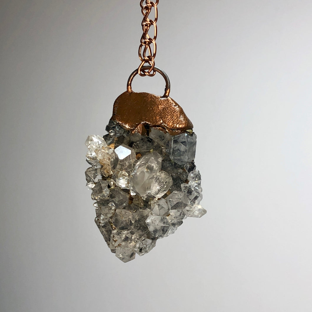 Quartz Cluster with Copper / Copper Necklace