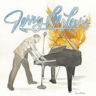 Jerry Lee Lewis Original Watercolor by Susan Erwin Prowse