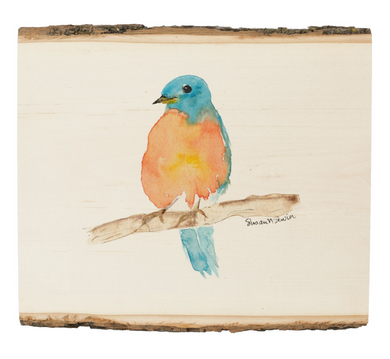 Bird on Wood Art