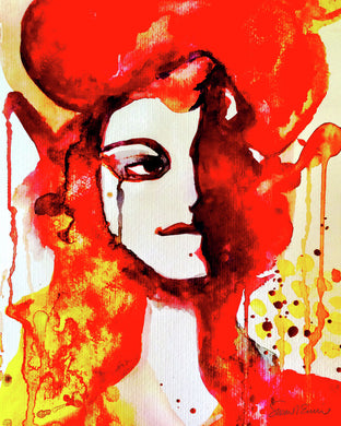 Red & Yellow Lady (Giclee) by Susan Erwin Prowse