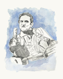 Johnny Cash (Giclee) by Susan Erwin Prowse