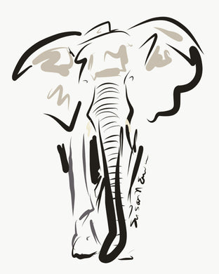 Elephant (Giclee) by Susan Erwin Prowse