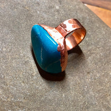 Blue Howlite Stone on Copper Band