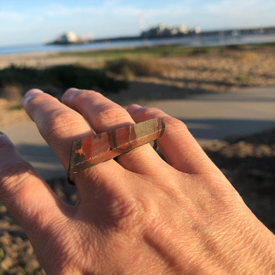 Sandstone Double Copper Ring