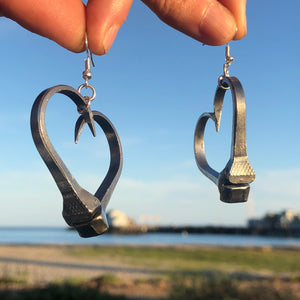 Horse Shoe Nail Earrings