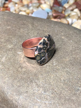 Leopard Skin Rhyolite Stone on Copper Band