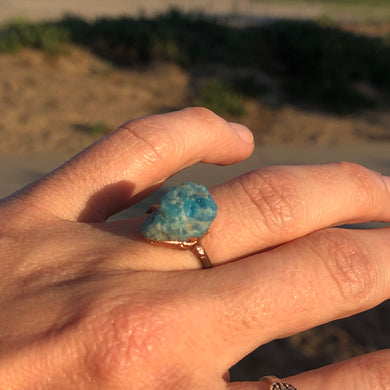 Blue & Copper Ring