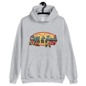 Cliff & Susan Vintage Hooded Sweatshirt (Navy or Grey)
