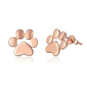 Sterling Silver Gold Puppy Footprints