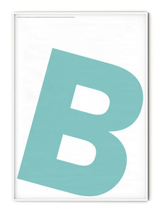 Letters B Poster