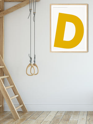 Letters D Poster
