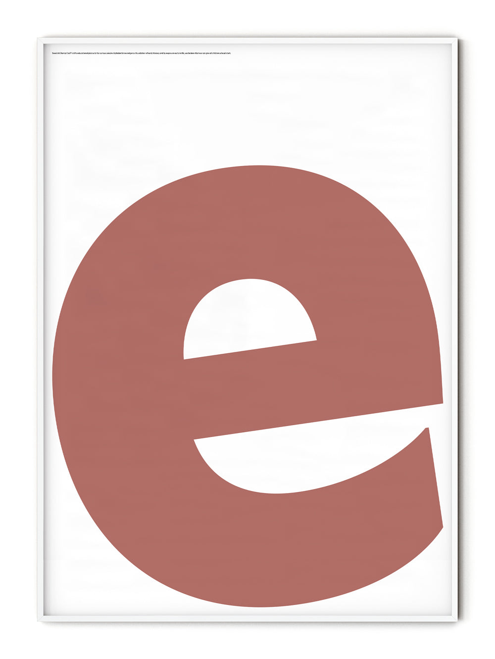 Letters E Poster
