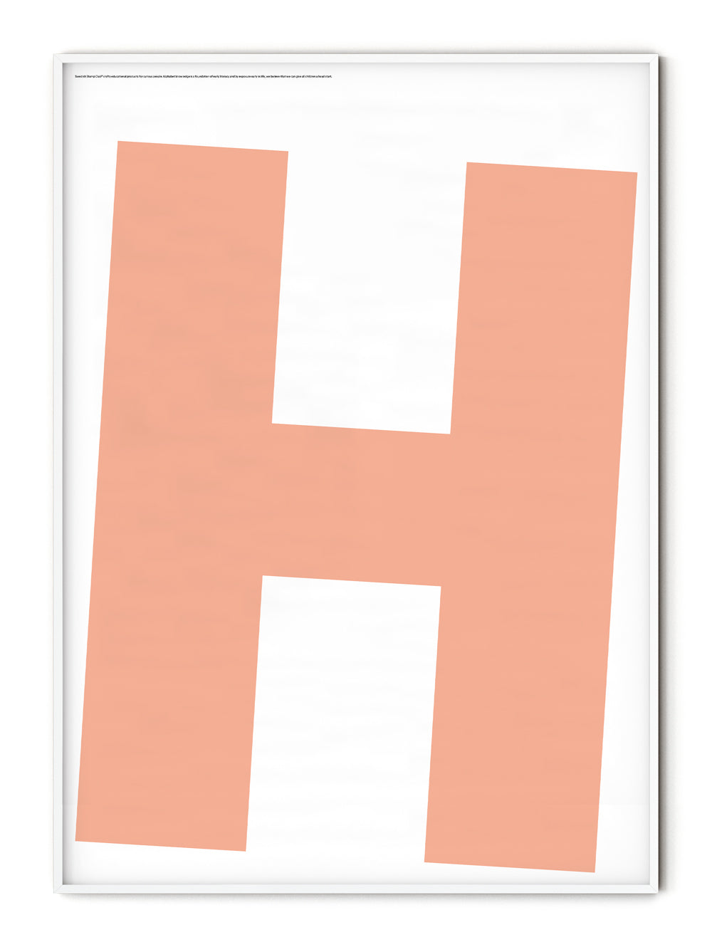 Letters H Poster