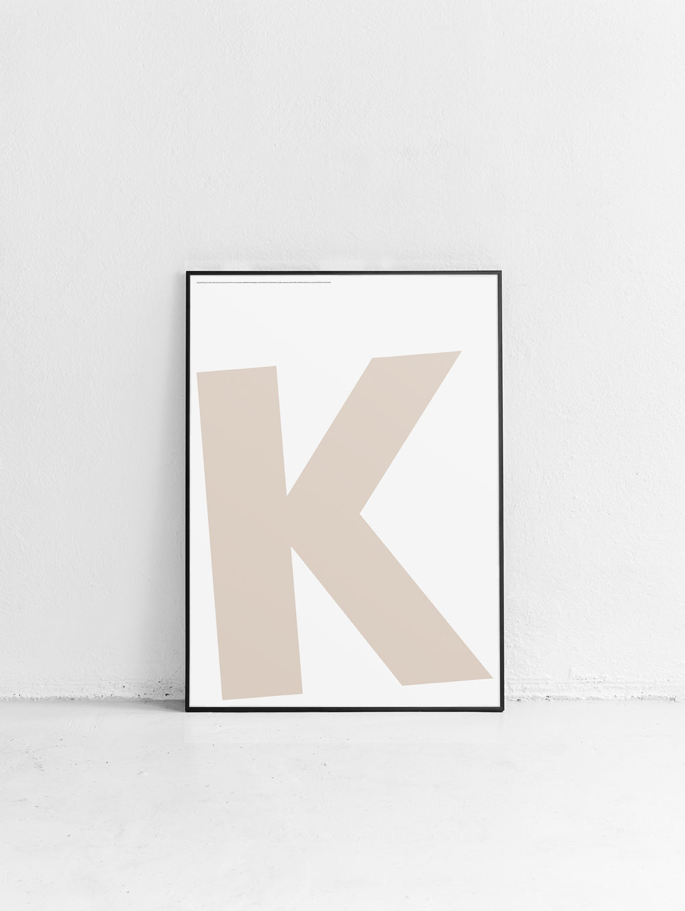 Letters K Poster