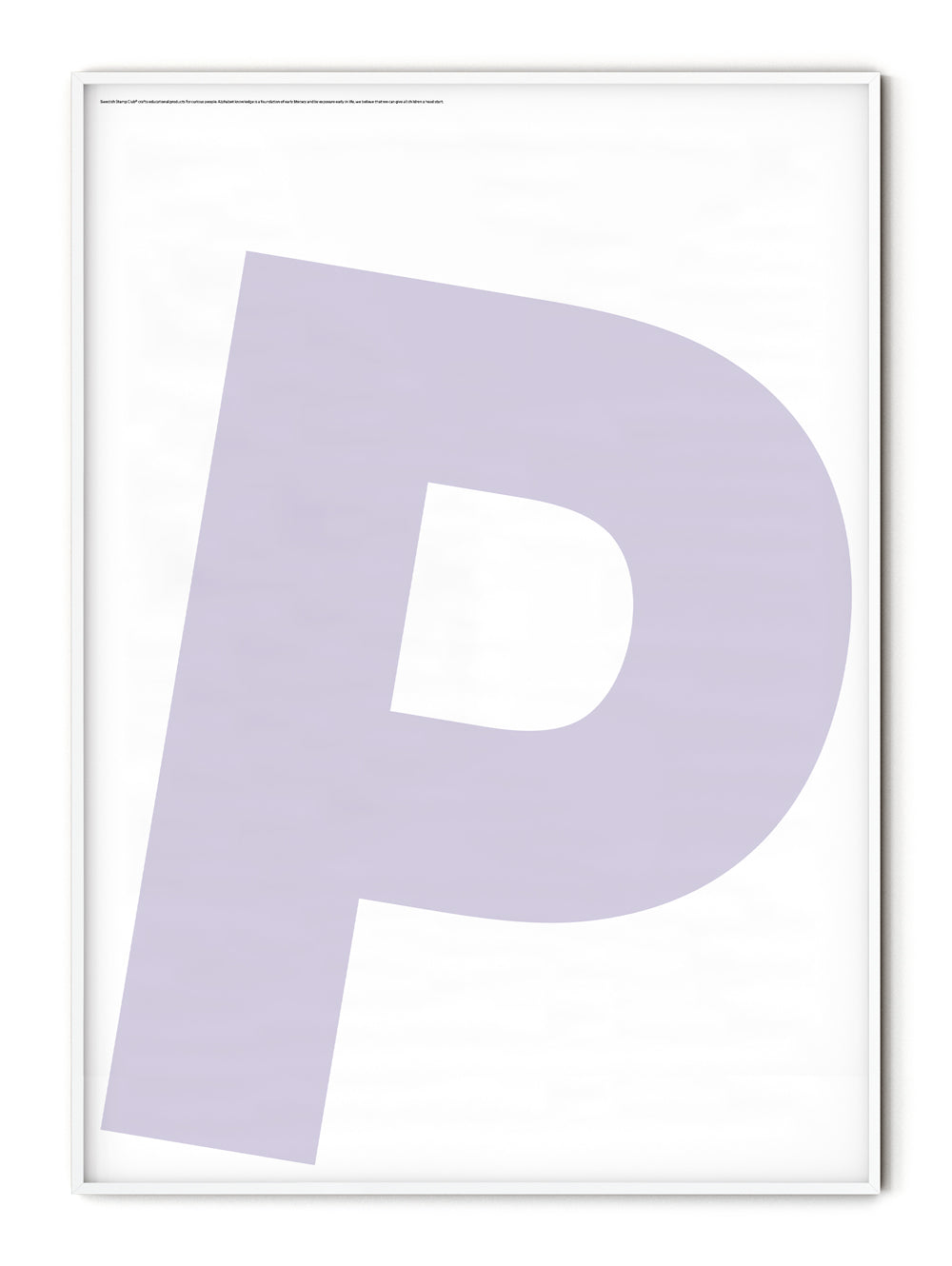 Letters P Poster