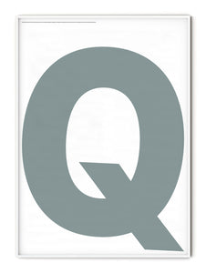 Letters Q Poster