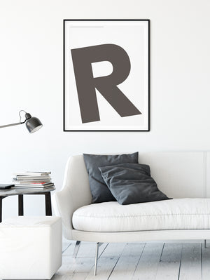 Letters R Poster