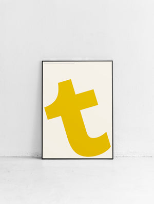 Letters T Poster