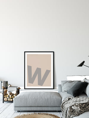 Letters W Poster