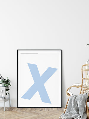 Letters X Poster