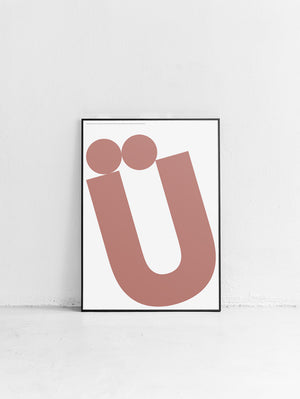 Letters Ü Poster