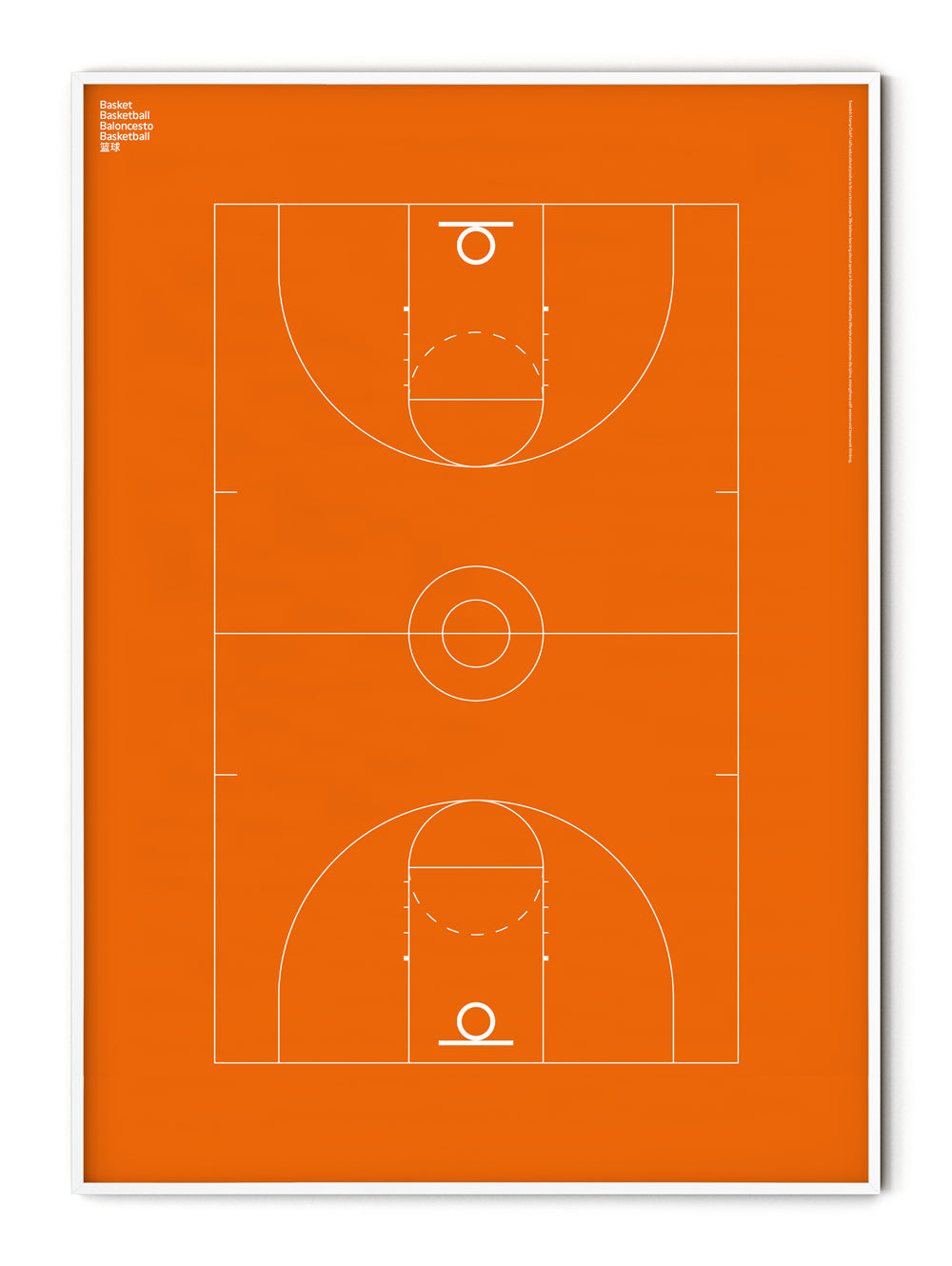 Sport Basketball Court Poster