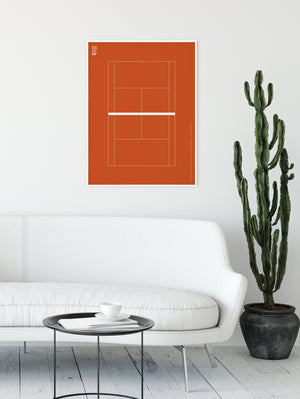 Sport Tennis Court French Open Poster
