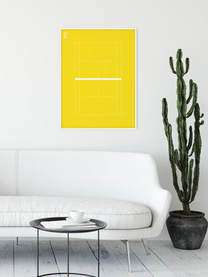 Sport Tennis Yellow Court Poster
