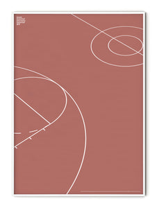 Sport Basketball Court Detail Poster