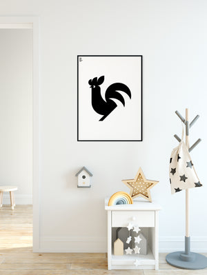Animal Rooster Poster