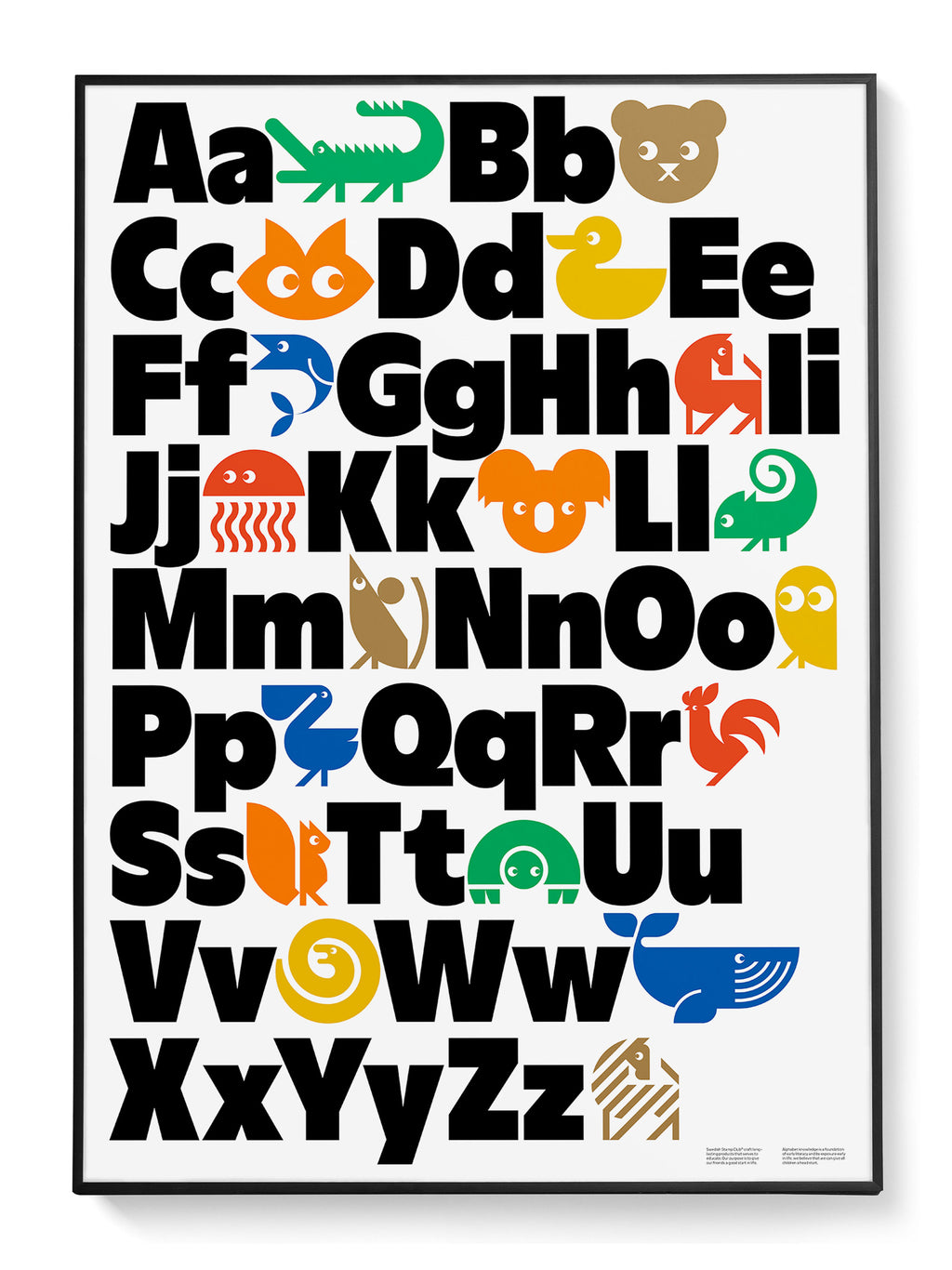 Animal Alphabet English Poster