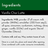 Vanilla Chai Latte - now with Stevia - New