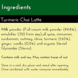 Turmeric Chai Latte - now with Stevia