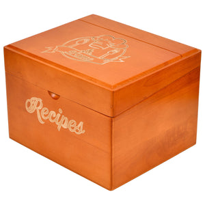 Recipe Box with Cards and Dividers
