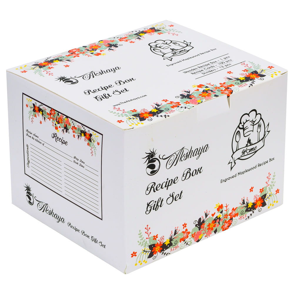 Recipe Box  Gift Set - Maplewood