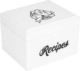 Recipe Box Gift Set - Minimalist White