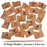 Kraft Recipe Dividers Set