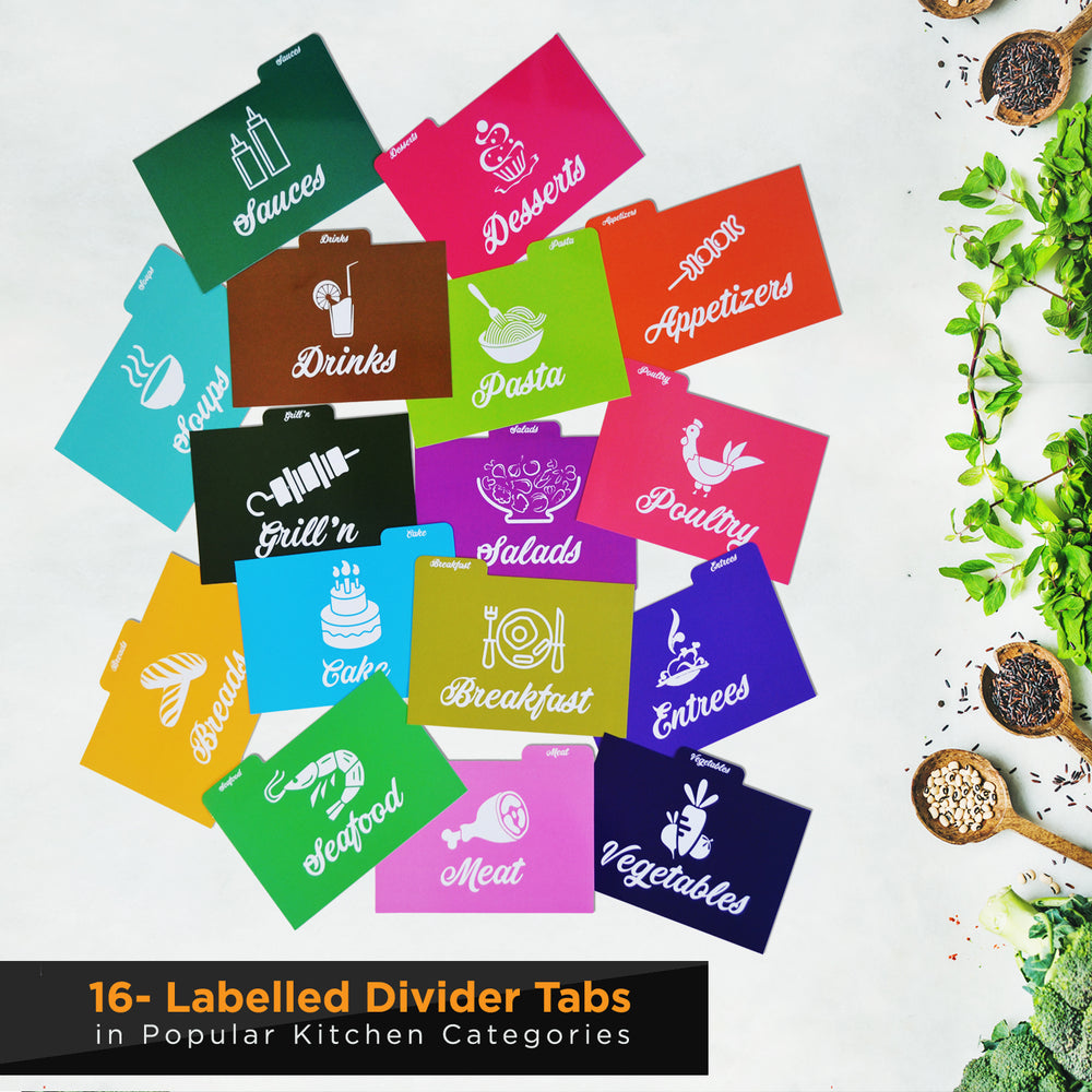 Colorful Recipe Dividers Set