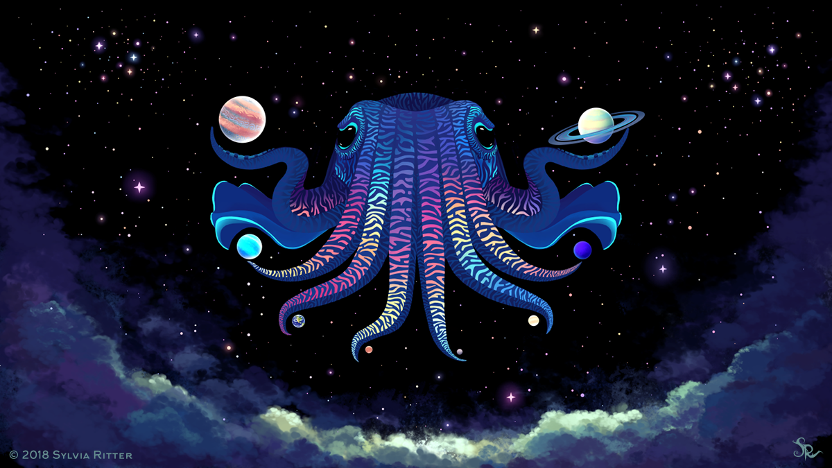 Cosmic Cuttlefish - Signed Giclée Print