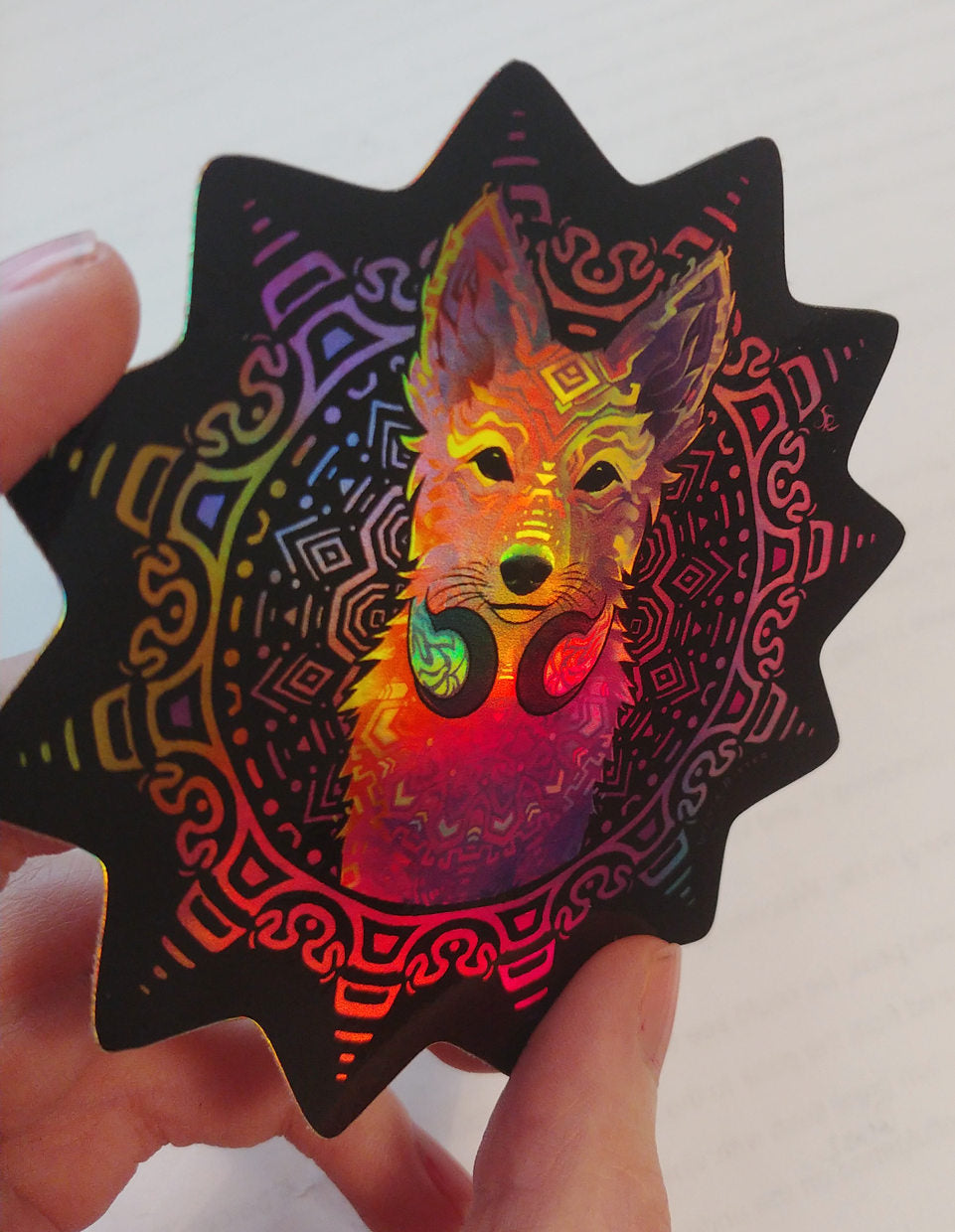 Disco Dingo - Holographic Sticker