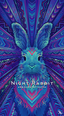 Night Rabbit - Signed Giclée Print