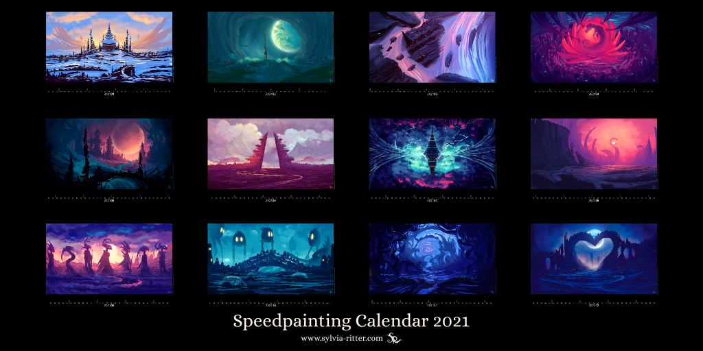 2021 Speedpainting Calendar - Limited Edition