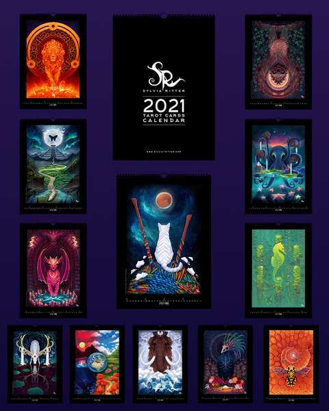 PREORDER 2021 Tarot Cards Calendar - Limited Edition