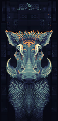 Warty Warthog - Signed Giclée Print
