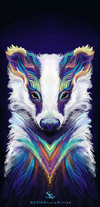 Breezy Badger - Signed Giclée Print